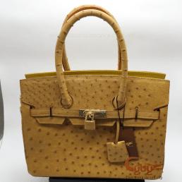 Túi xách da đà điểu mẫu Hermet
