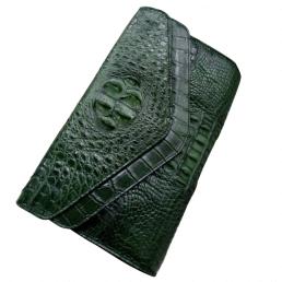 Túi đeo da cá sấu nữ kiểu 2 nắp