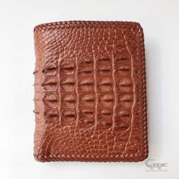 Bóp da cá sấu gai lưng đan viền thủ công VCLIHM