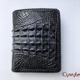 Ví da lưng cá sấu đan viền - VCL951IHM