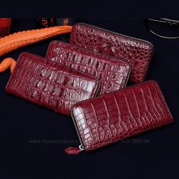 Bộ ví cầm tay da cá sấu 1 dây kéo cao cấp hàng hiệu