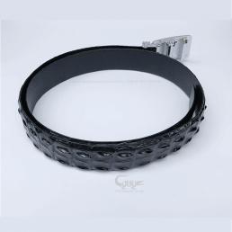 Dây nịt da cá sấu màu đen cao TCLC351