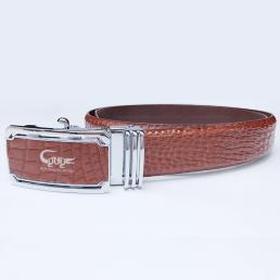 Dây nịt da cá sấu màu nâu đỏ - TCGA353