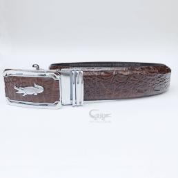 Dây nịt da hông cá sấu màu nâu TCGB352