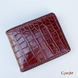 Ví nam da cá sấu handmade VCA9531H
