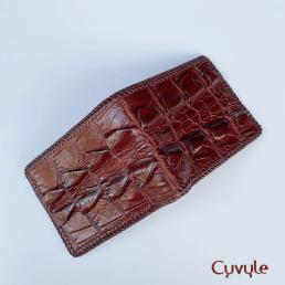 Ví nam da cá sấu handmade cao cấp VCD9531H