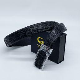 Thắt lưng da cá sấu màu đen TC401TK