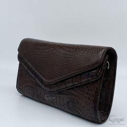 Túi đeo da cá sấu kiểu 2 nắp BC2N18262