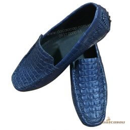 Giày da cá sấu màu xanh đen