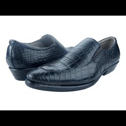 Giày nam da cá sấu xịn màu đen