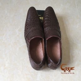 Giày nam da cá sấu bông hông cao cấp