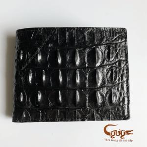 Ví da cá sấu màu đen gai lưng VCL95120