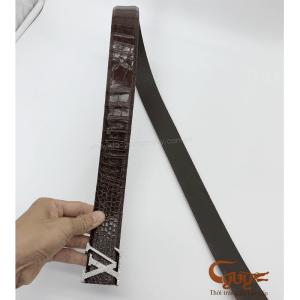 Thắt lưng da cá sấu liền bản 4 cm