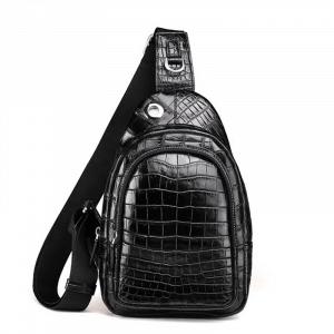Túi đeo chéo da cá sấu kiểu thể thao