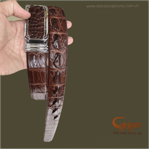 Thắt lưng da cá sấu xịn màu mận chín - TCGD3531