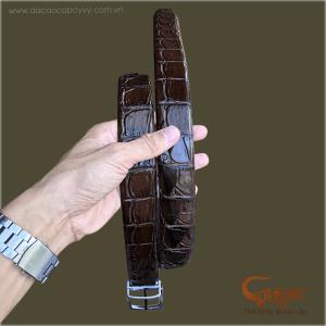 Thắt lưng da cá sấu gai đuôi - TCGD352