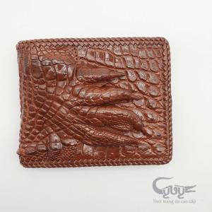 Ví bàn chân da cá sấu đan viền VCJ9512HM