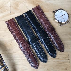 Dây đồng hồ da cá sấu thật - DC1C
