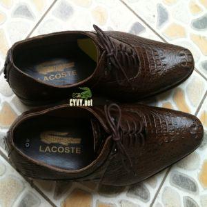 Giày da cá sấu nguyên con màu nâu đất