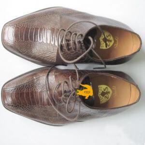 Giày da đà điểu màu nâu
