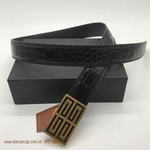 Dây nịt da cá sấu cao cấp bản 4.0 màu đen