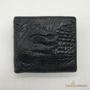 Ví nam bàn chân cá sấu thật màu đen