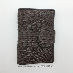 Ví passport da cá sấu xịn màu nâu đen