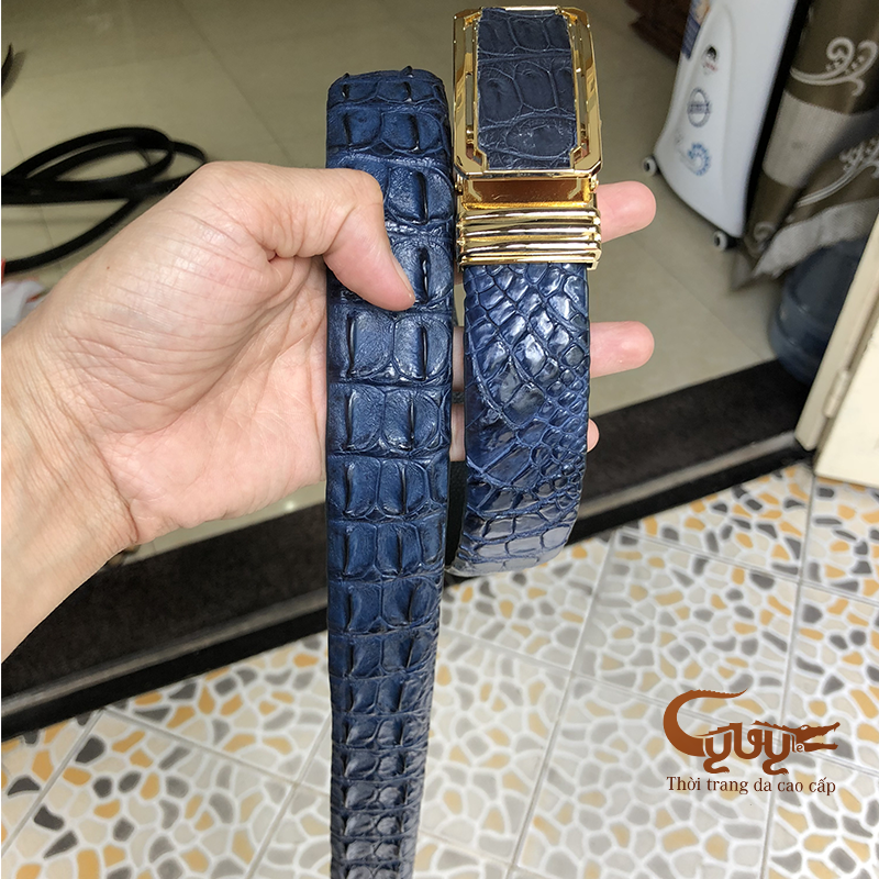 Thăt lưng da ca sâu mau xanh navi - ma tcgc356 - 3