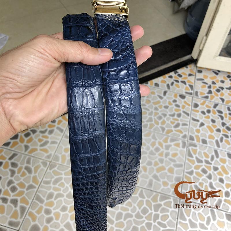 Thăt lưng da ca sâu mau xanh navi - ma tcgc356 - 4