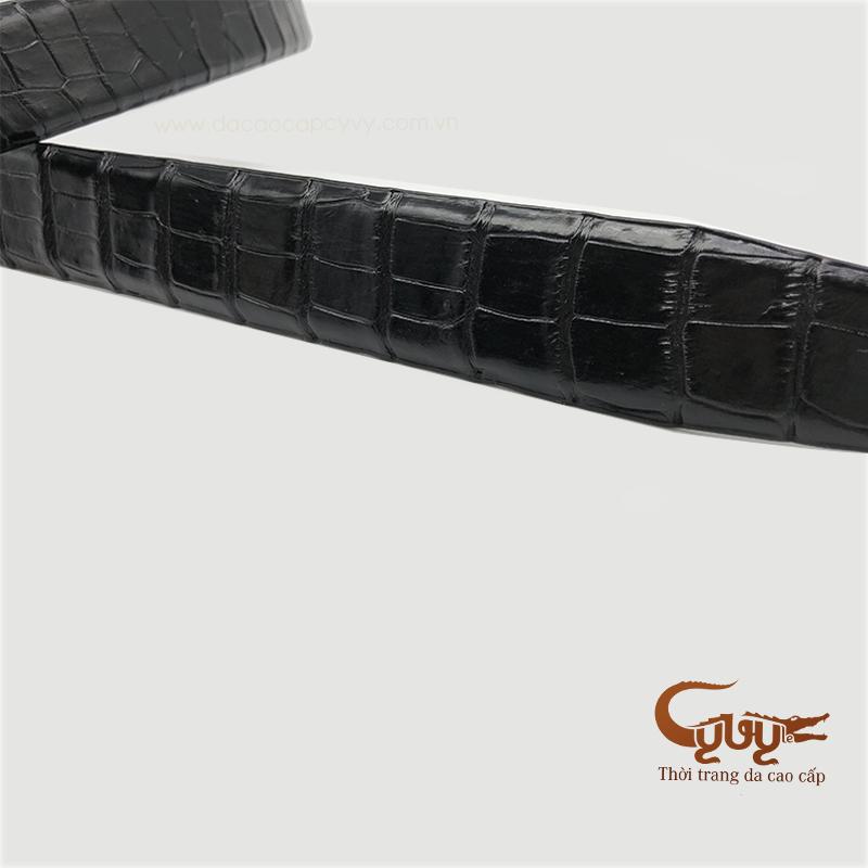 Thăt lưng da bung ca sâu mau đen - tccl350 - 2