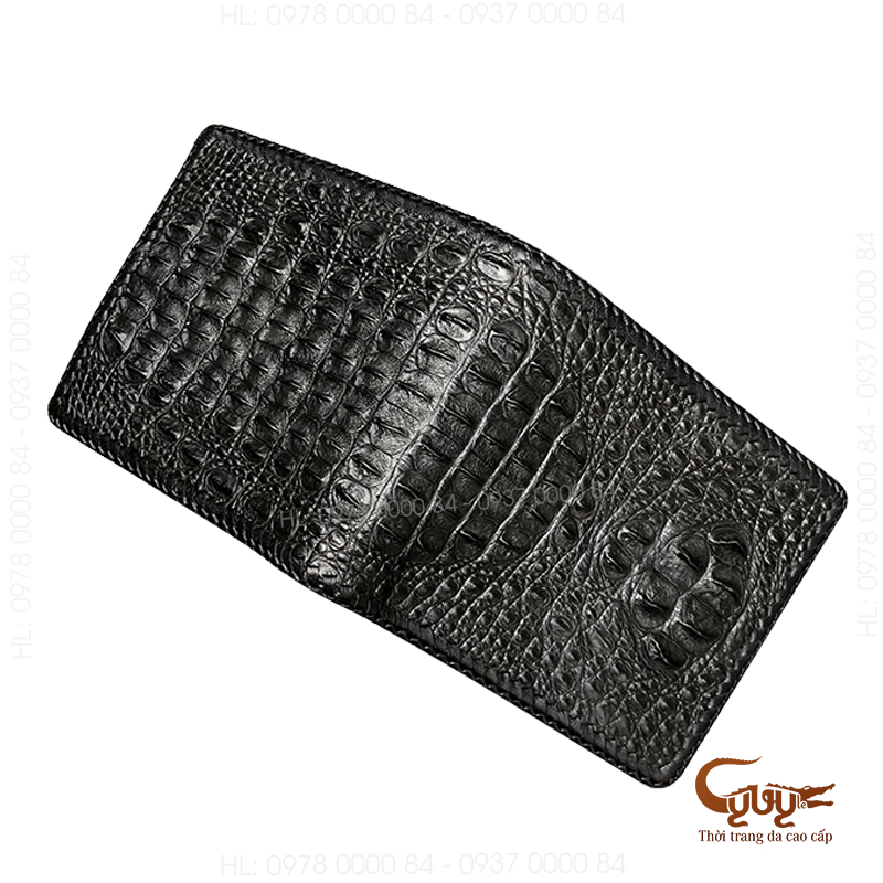 Ví da cá sấu đan viền - vcfl95120hm - 2