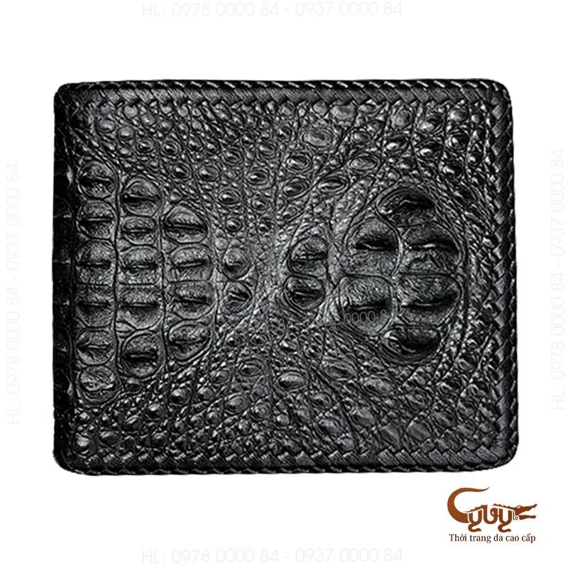 Ví da cá sấu đan viền - mã vcnd951 - 7