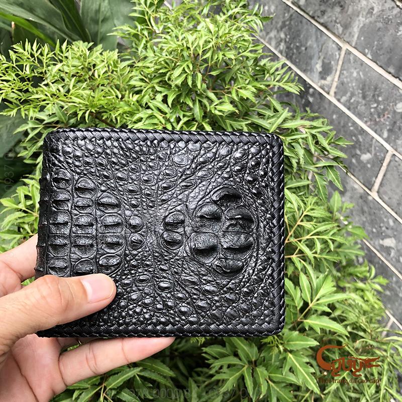 Ví da cá sấu đan viền - vcfl95120hm - 3