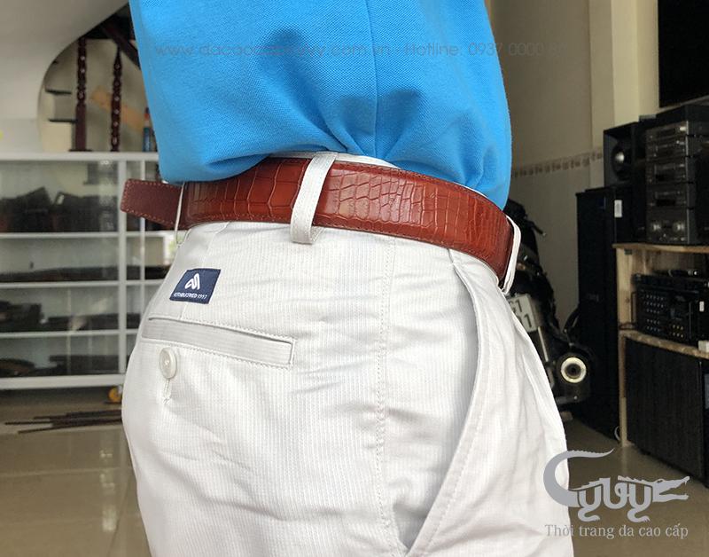 Thăt lưng da ca sâu may viên tcga35m3 - 4