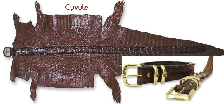 Thắt lưng da cá sấu bản 34 cm - tc35v - 9