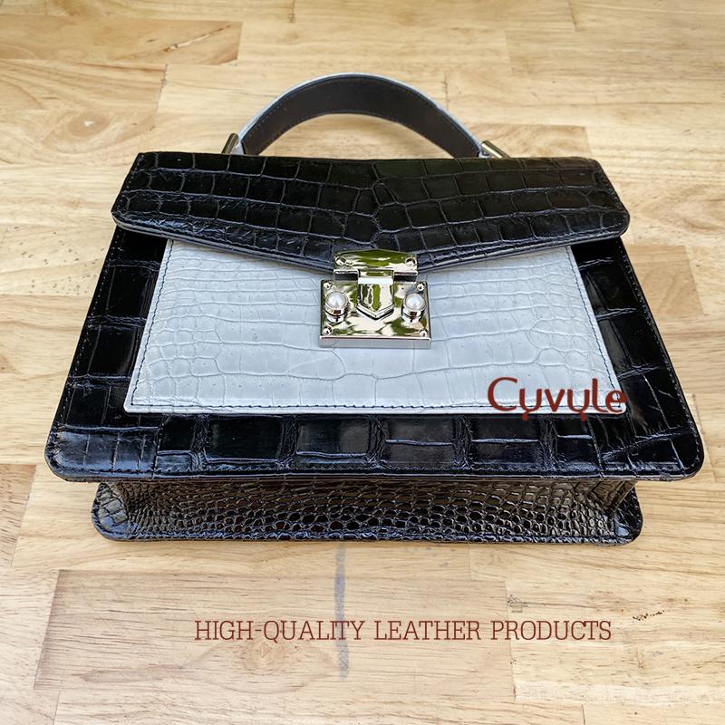 Túi xách da cá sấu cao cấp ccl24ph1 - 4