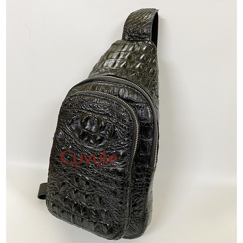 Túi đeo chéo da cá sấu nguyên con cao cấp tc331807 - 6