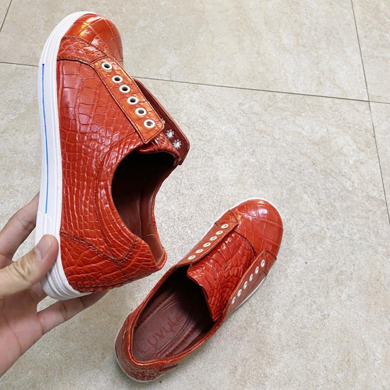 Giày nữ da cá sấu cao cấp gbca - 11