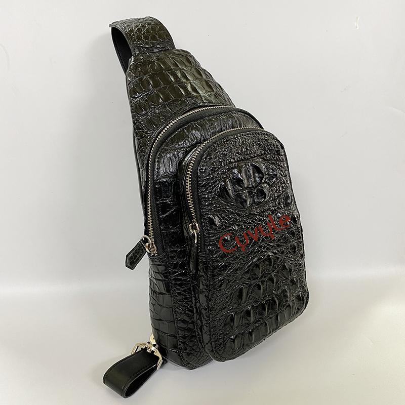 Túi đeo chéo da cá sấu nguyên con cao cấp tc331807 - 7