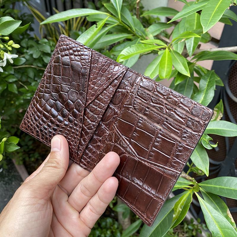 Ví đựng thẻ da cá sấu cao cấp - 7