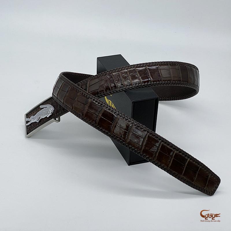 Thắt lưng da cá sấu handmade tc402hm - 4