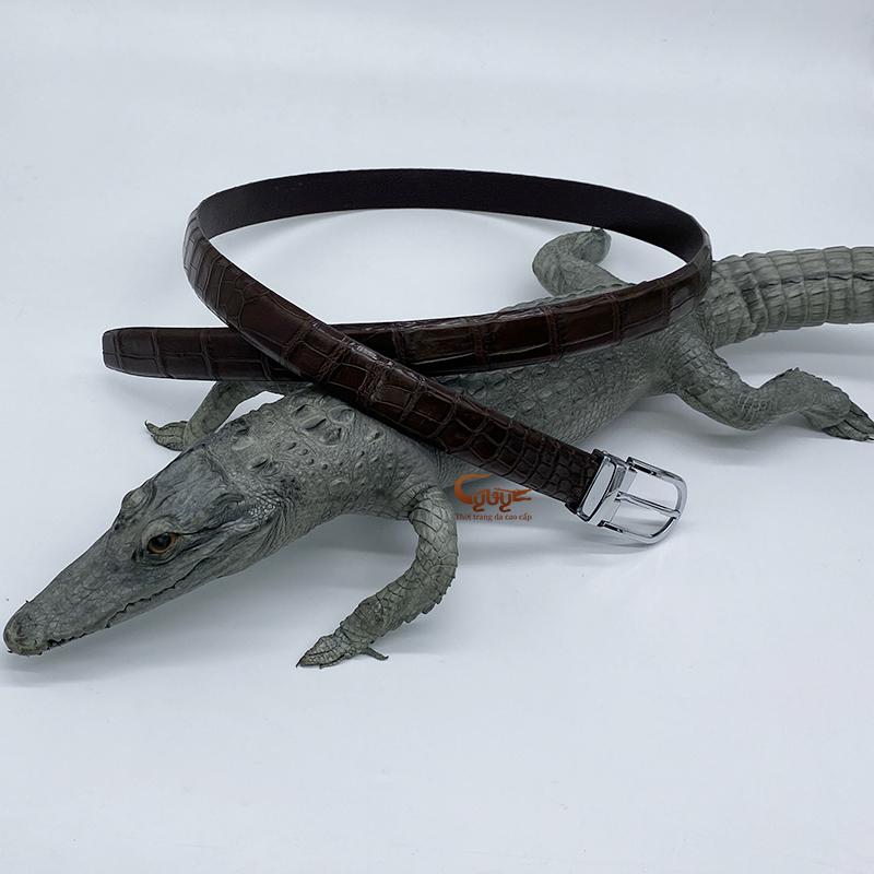 Dây lưng nữ da cá sấu thật - 2