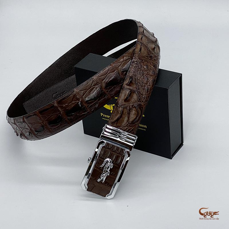 Thắt lưng da cá sấu bản 4cm - tc402tk - 6