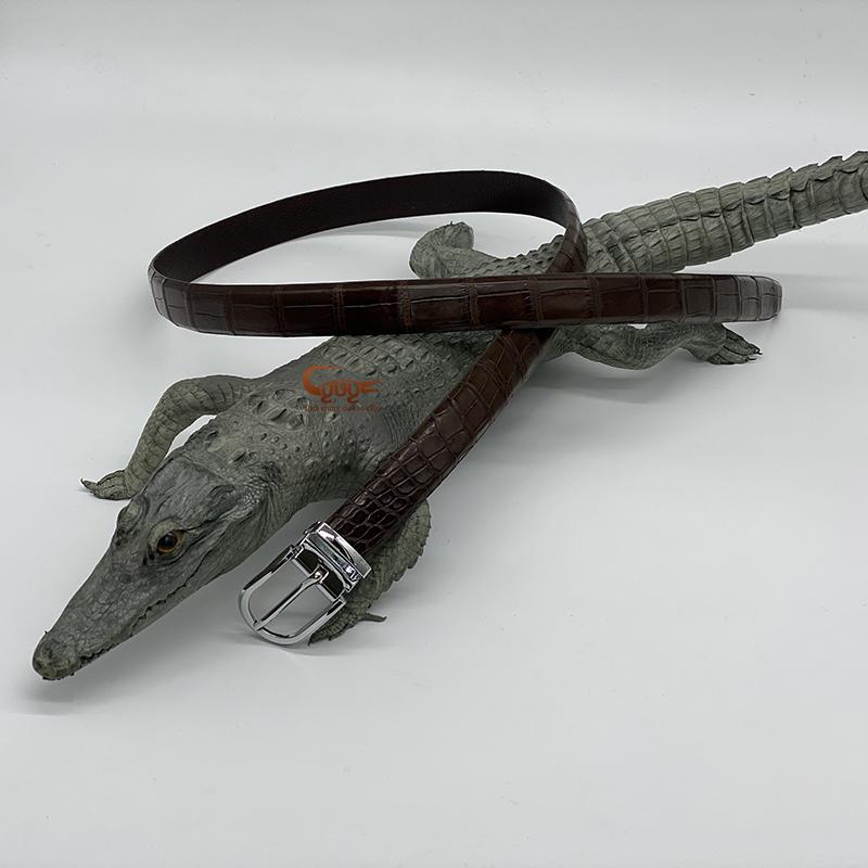 Dây lưng nữ da cá sấu thật - 4