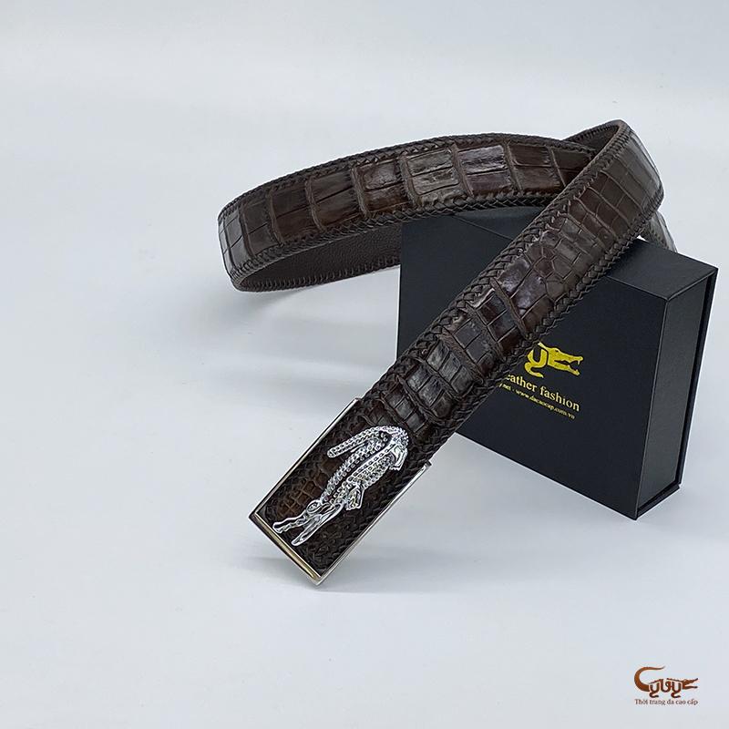 Thắt lưng da cá sấu handmade tc402hm - 2