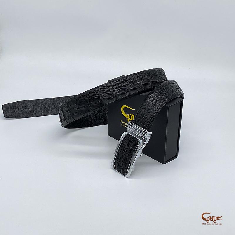 Thắt lưng da cá sấu bản rộng 4cm -tc401tk - 4