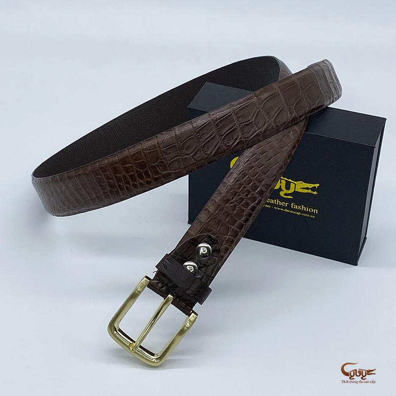Thắt lưng da cá sấu tc352gim - 5