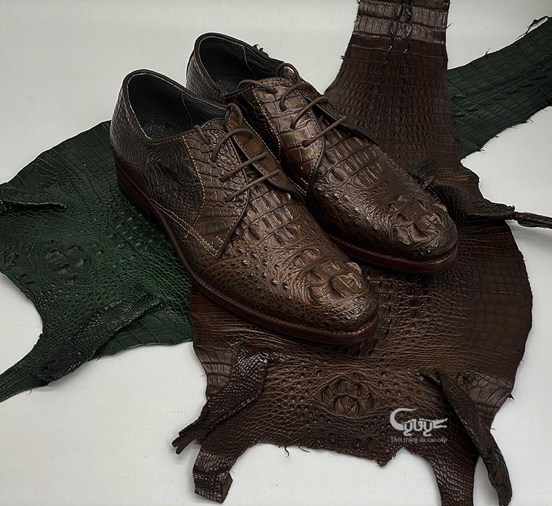Giày da cá sấu cao cấp - gc-01bd - 1