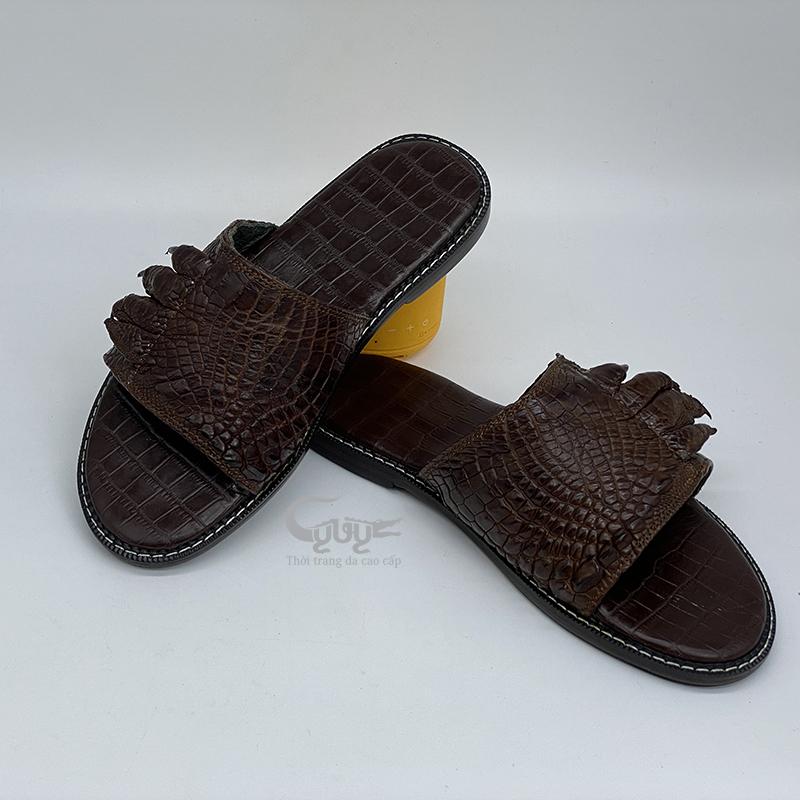 Dép da cá sấu móng chân dmc02 - 4