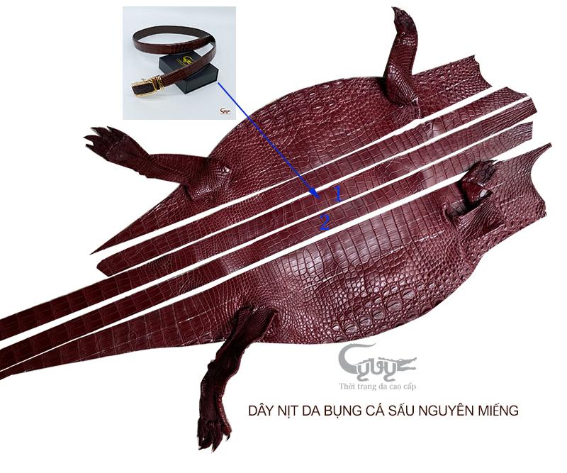 Thắt lưng da cá sấu cao cấp tc352vt - 2